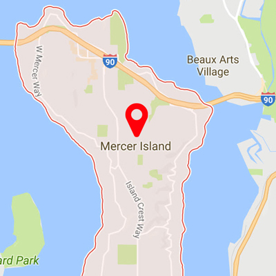 Mercer Island Carpet Cleaning Map